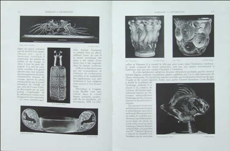 Rene Lalique Mobilier Et Decoration August 1928 Magazine