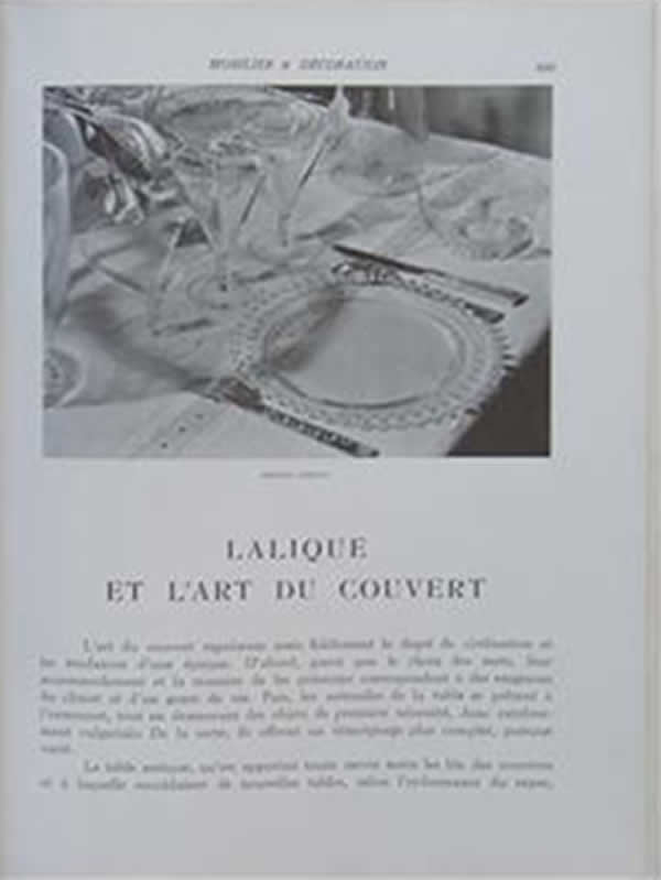 Rene Lalique Mobilier Et Decoration December 1937 No. 12 Magazine