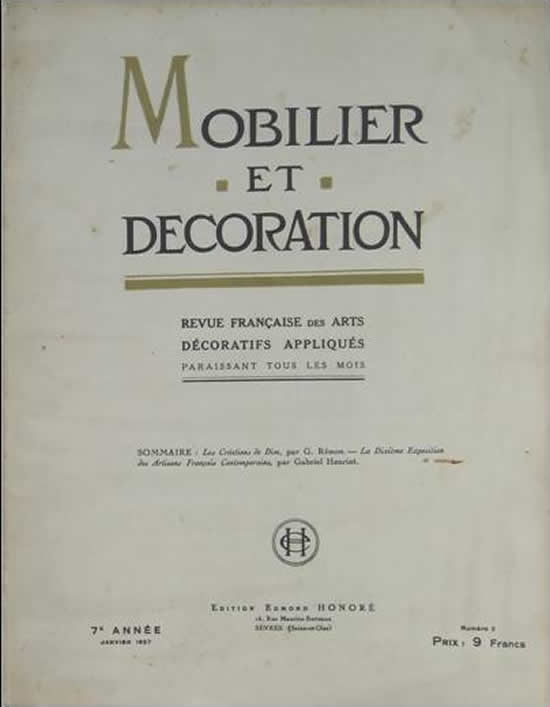R. Lalique Mobilier Et Decoration 1927 February No. 2 Magazine 2 of 2