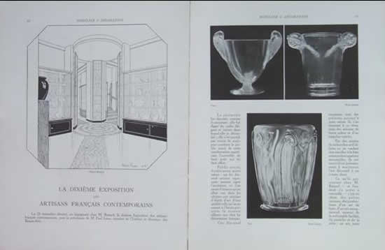 Rene Lalique Magazine Mobilier Et Decoration 1927 February No. 2