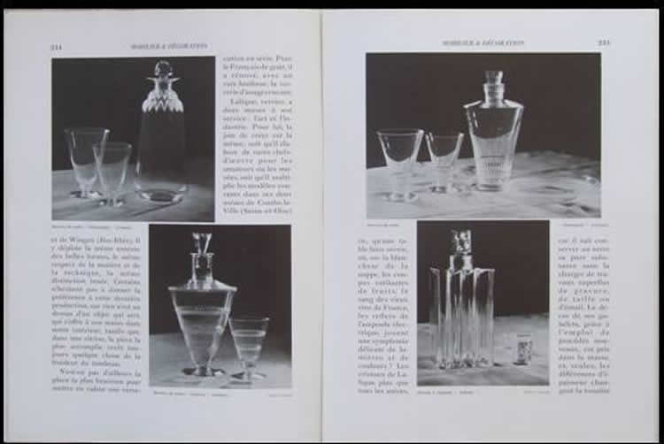 Rene Lalique Mobilier Et Decoration May 1932 Magazine