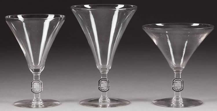 Rene Lalique Champagne Glass Monogramme