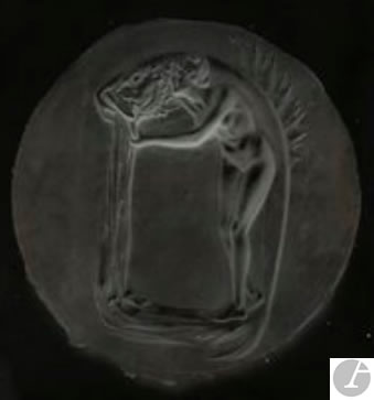 Rene Lalique Silver Gelatin-Bromide Dry Plate Nymph