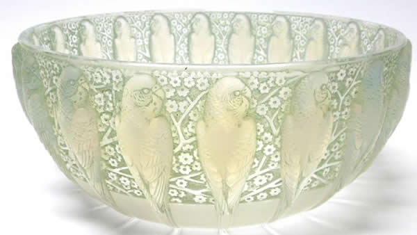 Rene Lalique Bowl Perruches