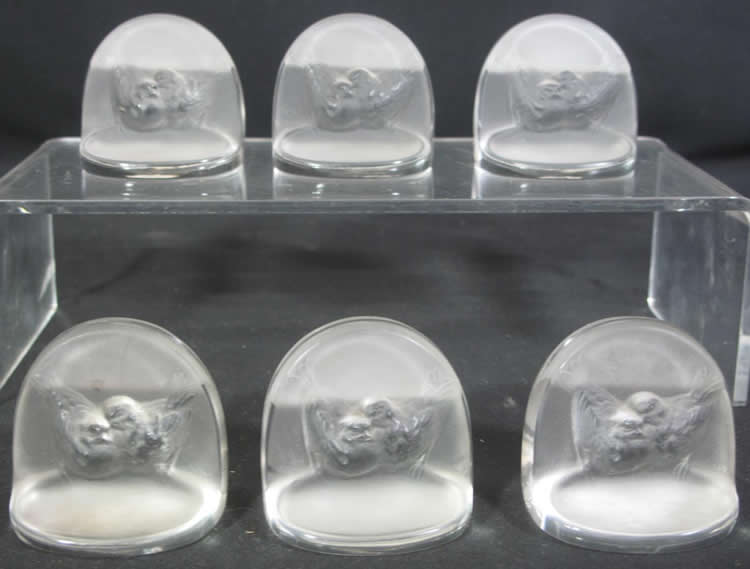Rene Lalique Place Card Holder Pinsons