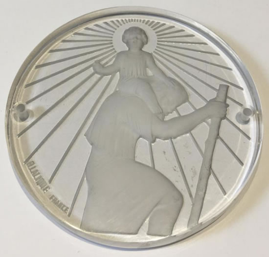 Rene Lalique Medallion Saint-Christophe