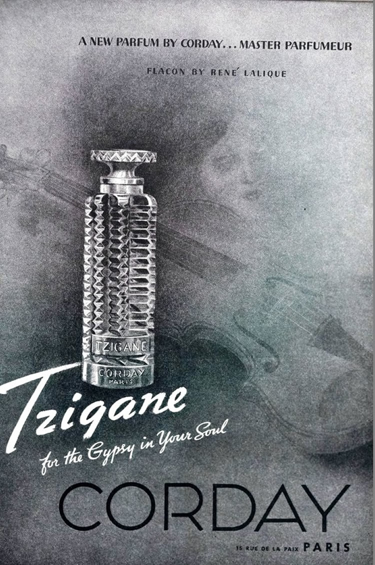 R. Lalique Tzigane Corday Magazine Ad 2 of 2