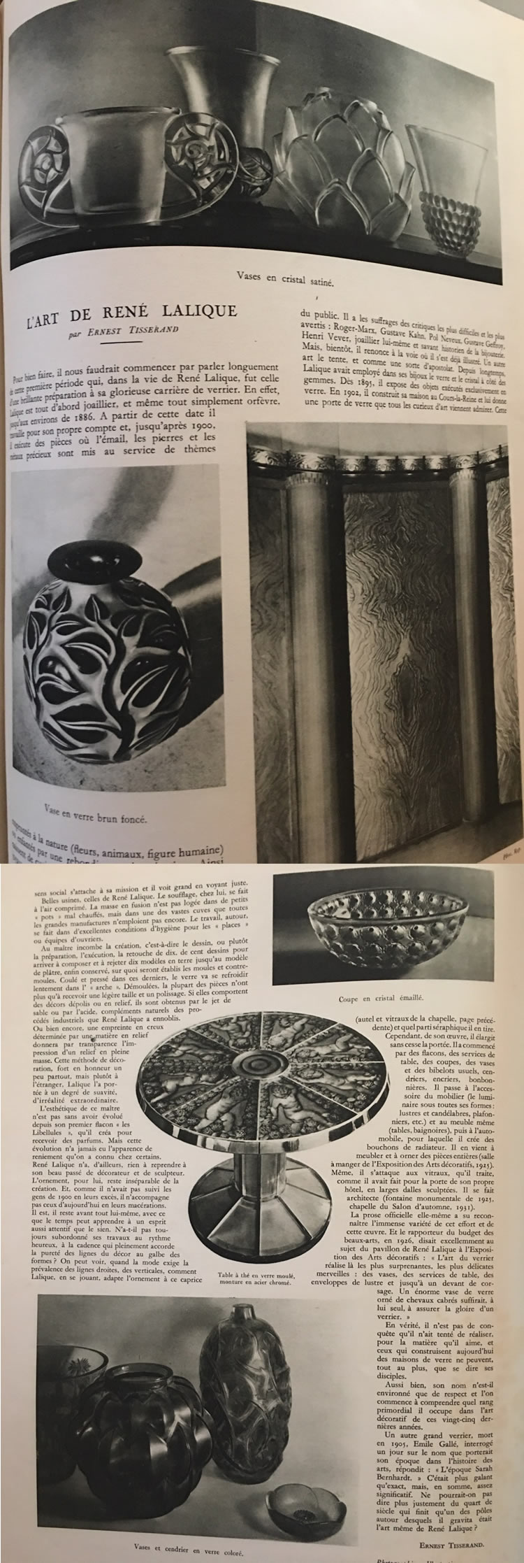 Rene Lalique L'Illustration June 11 1932 Magazine