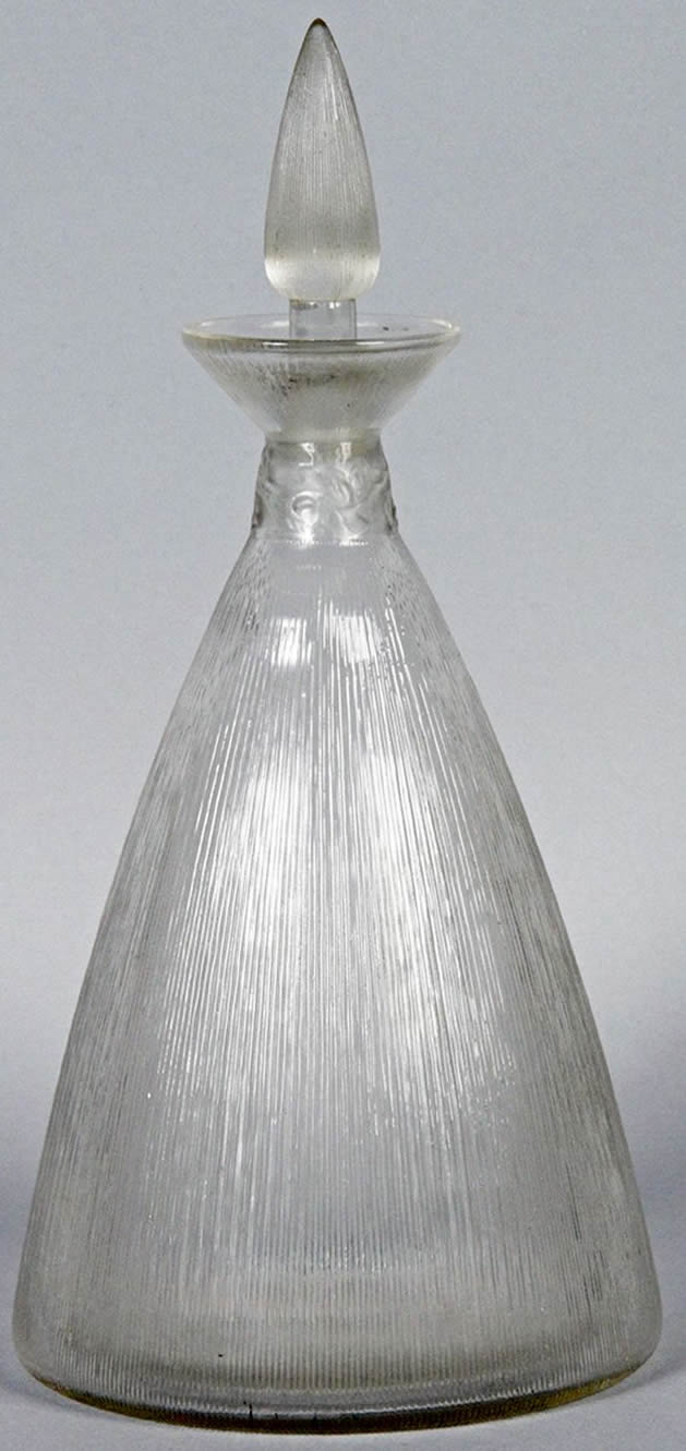 Rene Lalique Vigne Strie Decanter