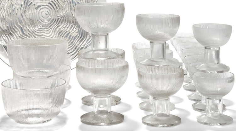 Rene Lalique  Wingen Tableware