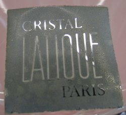 Cristal Lalique Paris Label Sticker For Modern Lalique Crystal