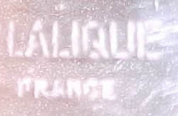 Lalique France Block Capital Letters Stenciled Signature Example No. 5