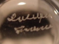 Lalique France Modern Crystal Script Signature Example No. 1