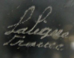 Lalique France Modern Crystal Script Signature Example No. 14