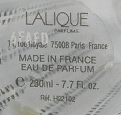 Lalique Parfums Made In France Eau De Parfum Sticker