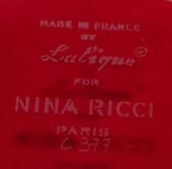 Made In France By Lalique For Nina Ricci Paris Modern Crystal Signature Example No. 1