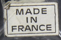 Made In France Label Sticker For Modern Lalique Crystal