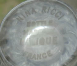 Nina Ricci Bottle Made By Lalique France Modern Crystal Signature Example No. 2