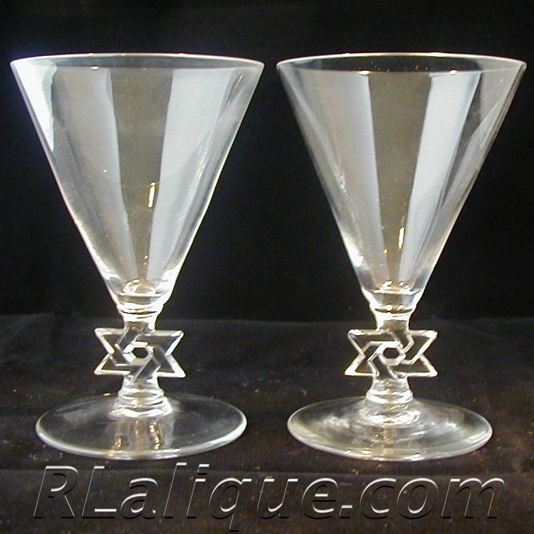 Rene Lalique Stemware Colmar Jewish Star of David
