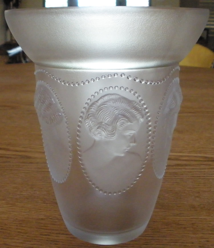 Rene Lalique Vase Medaillons