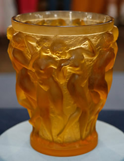 Yellow Amber R Lalique Bacchantes Vase by Rene Lalique