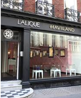 Cristal Lalique and Haviland Storefront in London