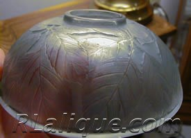 Rene Lalique Glass Inkwell Cernay Without Cover