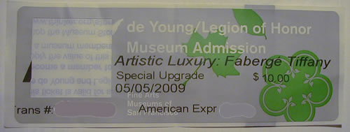 Rene Lalique Exhabition Ticket