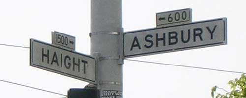 Haight - Ashbury Street Sign