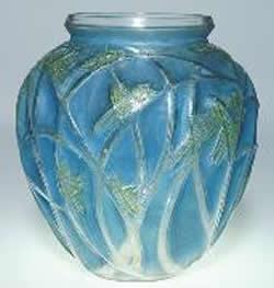 Rene Lalique Vase Sauterelles