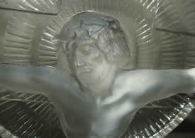 Rene Lalique Statue Christ on Cross