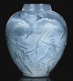 Rene Lalique Vase Archers in Frosted Glass
