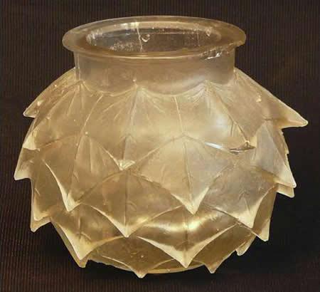 Rene Lalique Cire Perdue Vase Feuilles De Lierre Pointues 1930