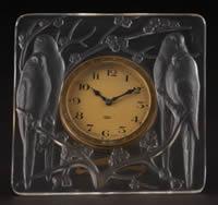 Rene Lalique Clock Inseperables