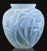 Rene Lalique Vase Sauterelles in Opalescent Glass