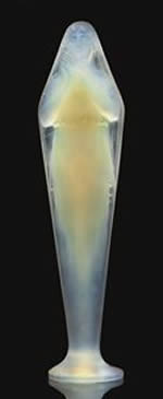 Rene Lalique Statue Voilee Mains Jointes in Opalescent Glass
