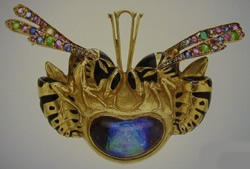 Rene Lalique Jewelry Brooch Wasps