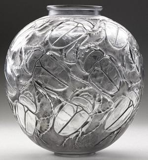 Rene Lalique Beetle Vase