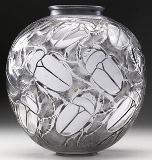 Rene Lalique Beetles Vase