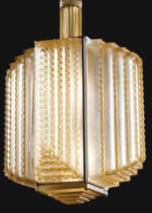 Rene Lalique Chandlier Normandie