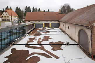 Lalique Museum Building Courtyard During Constructions