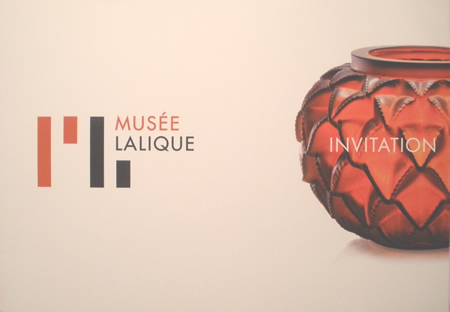Invitation To the VIP Inaugural Opening of the Musee Lalique