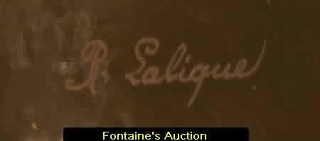 Perruches Vase R. Lalique Signature