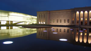 Nelson-Atkins Museum Plaza At Night - Kansas City Missouri