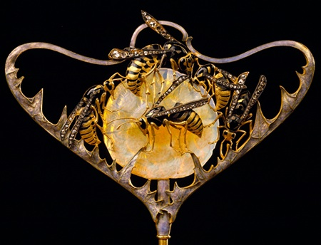 Wasps Stickpin By Rene Lalique Circa 1898-1899