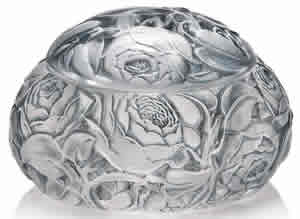Rene Lalique Dinard Box And Cover With All-Over Roses Design