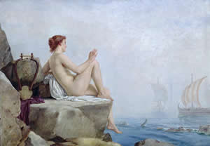 The Siren - An Oil On Canvas Painting By The 19th Century British Artist Edward Armitage