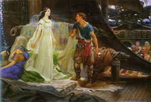 Tristan And Iseult In An Arthur James Draper Depiction