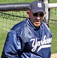 Yogi Berra In New York Yankees Uniform