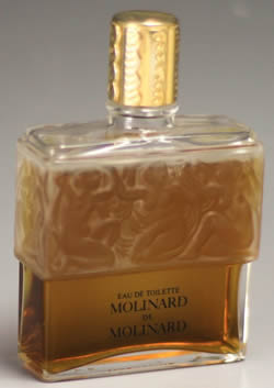 Molinard De Molinard Perfume Bottle With A CREATION Lalique Signature That Is Modern Post-War